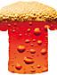 billige Herretopper-Herre T skjorte 3D-utskrift Grafisk Øl Trykt mønster Kortermet Daglig Topper Grunnleggende Gatemote Lilla Rød Gul