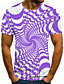 cheap Men's Tees & Tank Tops-Men's T shirt Graphic 3D Plus Size Print Short Sleeve Casual Tops Streetwear Exaggerated Black Blue Purple