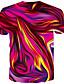זול טישרטים לגופיות לגברים-בגדי ריקוד גברים יומי טישרט מופשט גראפי דפוס שרוולים קצרים צמרות צווארון עגול פול אודם זהב / קיץ