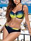 economico Bikinis-Per donna Essenziale Boho Bikini Costume da bagno Con stampe Sostegno e protezioni Monocolore Costumi da bagno Costumi da bagno Blu Rosso Giallo Fucsia / Imbottito