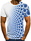 cheap Men's Tees & Tank Tops-Men's T shirt Graphic 3D Short Sleeve Daily Tops Basic Blue Purple Gray