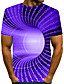 cheap Men's Tees & Tank Tops-Men's T shirt Graphic 3D Plus Size Short Sleeve Daily Tops Basic Blue Purple Yellow