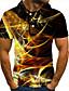 cheap Men's Polos-Men's Golf Shirt Tennis Shirt 3D Print Graphic Plus Size Short Sleeve Daily Slim Tops Streetwear Exaggerated Shirt Collar Rainbow