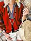 cheap Women's Blouses & Shirts-Women's Blouse Color Block Patchwork Loose Tops V Neck Orange Royal Blue