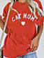 cheap Women's T-shirts-Women's T-shirt Letter Tops Wine Orange Green