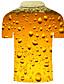 hesapli Erkek Polo Tişörtleri-Erkek Golf Gömlek Tenis forması Grafik 3D Büyük Bedenler Kısa Kollu Günlük Üstler Temel Abartılı Gömlek Yaka Gökküşağı