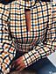 cheap Women's Blouses & Shirts-Women's Blouse Plaid Tops Yellow