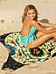 cheap Cover Up-Women's Tankini Cover Up Swimsuit Print Animal Light Blue Blue Yellow Khaki Gold Swimwear Bathing Suits