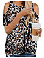 cheap Women's Blouses & Shirts-Women's Going out Blouse Leopard Round Neck Tops Basic Basic Top White Black Army Green