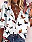 رخيصةأون بلوزات نسائية-نسائي قميص حيوان قبعة القميص قمم الصيف أبيض