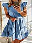 cheap Mini Dresses-Women's A-Line Dress Maxi long Dress - Short Sleeves Polka Dot Summer Casual 2020 Blue Blushing Pink Green S M L XL XXL XXXL