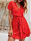 cheap Mini Dresses-Women's A-Line Dress Short Mini Dress - Short Sleeves Polka Dot Summer Casual Sexy 2020 Black Red Yellow M L XL XXL XXXL XXXXL XXXXXL