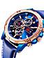 cheap Sport Watches-Men's Sport Watch Quartz Modern Style Stylish Casual Water Resistant / Waterproof Genuine Leather Analog - Digital - Black Blue Brown / Calendar / date / day