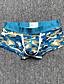 cheap Men's Exotic Underwear-Men's Print Briefs Underwear Low Waist Blue Yellow Green S M L