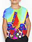 cheap Boys' Tops-Kids Boys' Basic Geometric Print Short Sleeve Tee Green