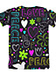 cheap Boys' Tops-Kids Boys' Sports & Outdoors Basic Holiday Geometric Print Short Sleeve Tee Black