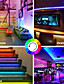 cheap LED Strip Lights-LED Strip Lights RGB 65.6ft -20M 32.8ft-10M Tape Light SMD5050 LED Strips with Remote Controller with 44 Keys IR Remote and 12V Power Supply Flexible Color Changing Apply to BedroomTV Party