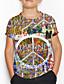 cheap Boys' Tops-Kids Boys' Basic Geometric Print Short Sleeve Tee Rainbow