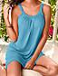cheap Mini Dresses-Women's Strap Dress Short Mini Dress - Sleeveless Solid Colored Summer Spring & Summer Plus Size Basic Beach 2020 White Black Purple Fuchsia Light Blue S M L XL XXL 3XL 4XL