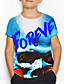 cheap Boys' Tops-Kids Boys' Basic Holiday Geometric Print Short Sleeve Tee Blue