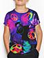 cheap Boys' Tops-Kids Boys' Basic Holiday Geometric Print Short Sleeve Tee Purple