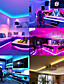 cheap LED Strip Lights-Led Strip Lights 5050 65.6ft-20M 32.8ft-10M Smart RGB Strip Music Sync Color Changing Strips Bluetooth APP Control with Remote for Bedroom Room TV Party and 12V Power Supply and1Set Mounting Bracket