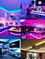 cheap LED Strip Lights-LED Strip Lights 32.8ft-10M RGB Strip 5050 30LED/M 2835 60/M 10mm Tape Lights Color Changing LED Strip Lights with Remote for Home Lighting Kitchen Bed Flexible Strip Lights for Bar Home Decoration