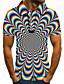 cheap Men's Polos-Men's Golf Shirt 3D Print Graphic Optical Illusion Print Short Sleeve Daily Tops Basic Rainbow