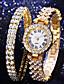 cheap Quartz Watches-Women's Quartz Watches Quartz Modern Style Minimalist Adorable Analog Rose Gold Gold Silver / One Year / Imitation Diamond / One Year