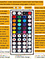 abordables Bandes Lumineuses LED-kit de lumières de bande led bande lumineuse rgb de 32.8ft avec télécommande et clips de support pour chambre à coucher maison armoire de cuisine décoration de fête adaptateur 12v 6a non étanche