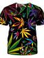cheap Men's 3D T-shirts-Men's T shirt 3D Print Graphic Print Short Sleeve Party Tops Exaggerated Rainbow