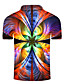 cheap Men's Polos-Men's Golf Shirt 3D Print Graphic Print Short Sleeve Daily Tops Personalized Basic Vacation Holiday Rainbow