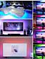cheap LED Strip Lights-LED Strip Lights Black PCB TV Back Strip light Kit 3.28Ft 1M Multi-Colour 60LEds Flexible 5050 RGB with 5V USB Cable and Mini Controller for TV PC Laptop Background Lighting