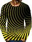 cheap Men's Tees & Tank Tops-Men's Polka Dot Graphic T-shirt Print Long Sleeve Daily Tops Basic Round Neck Light Blue Sapphire Blue Black