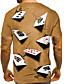 tanie Męskie koszulki i tank topy-Męskie Podkoszulek Koszula Druk 3D Graficzny 3D Nadruk Krótki rękaw Codzienny Najfatalniejszy Okrągły dekolt Fioletowy Żółty Niebieski