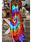 billige Maxi-kjoler-Dame Stroppekjole Maxi lang kjole Blå Lilla Grøn Rød Lysegrøn Uden ærmer Trykt mønster Trykt mønster Sommer V-hals Elegant 2021 S M L XL XXL 3XL 4XL 5XL / Bomuld / Bomuld
