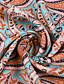cheap Maxi Dresses-Women's Swing Dress Maxi long Dress Red Brown Short Sleeve Print Split Ruffle Button Spring Summer V Neck Vintage Boho Loose 2021 S M L XL XXL 3XL / Holiday