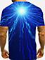 abordables T-shirts & Débardeurs Homme-Homme Tee T-shirt 3D effet Graphique 3D 3D Imprimé Manches Courtes Quotidien Hauts Personnalisé basique Chic et moderne Simple Col Rond Bleu / Eté