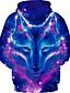 cheap Boys' Hoodies & Sweatshirts-Kids Boys' Hoodie & Sweatshirt Long Sleeve Wolf Fantastic Beasts Graphic 3D Animal Print Children Easter Tops Active Cool Light Blue Navy Black 3-13 Years