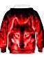 cheap Boys' Hoodies & Sweatshirts-Kids Toddler Boys' Hoodie & Sweatshirt Long Sleeve 3D Print Galaxy Wolf Animal Color Block Print Light Blue Blue Purple Children Tops Active Basic Novelty 2-13 Years