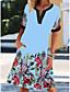 cheap Casual Dresses-2021 europe and america amazon aliexpress new v-neck short-sleeved retro printed dress women's elegant lady dress