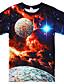 abordables Camisetas y camisas para niños-Niños Chico Camiseta Manga Corta Espacio Impresión 3D Gráfico Bloques Cuello redondo Secado rápido Unisexo Azul Piscina Morado Rojo Niños Tops Verano Básico Casual Innovador Día del Niño 2-12 años