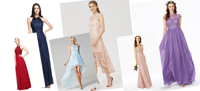 10d7272f80 Opt for dresses with lace embellishments! For a fun take on the mismatched  bridesmaids trend