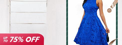 Женские бело-голубые топы и платья