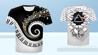 Tricouri Imprimate 3D de Bărba...