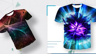 3D mintás férfi pólók
