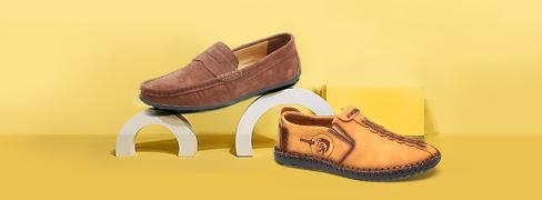 Mocasines y zapatos sin cordón para hombre