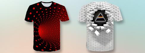 Heren T-shirtsmet 3D-print