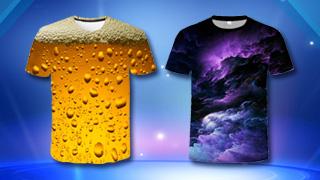 3D T-skjorter til herrer