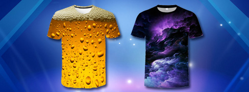 T-shirts til herrer med 3D-tryk